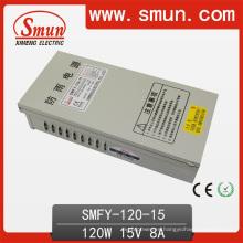 Fuente de alimentación a prueba de lluvia 120W 15V 8A IP40 Smfy-120-15