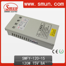 120W 15V 8A IP40 Rain-Proof Power Supply Smfy-120-15