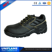 Black Steel Toe Protection Leather Safety Shoes A026
