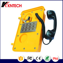 Teléfonos de servicio pesado con teclado plano de metal Knsp-11 Kntech