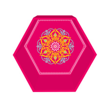 Rose red hexagon display