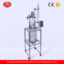 Chemical vacuum glass reflux condenser reactor