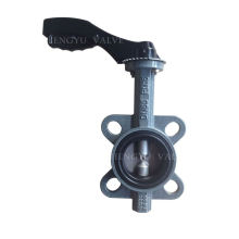 Private label OEM cast steel double flange eccentric butterfly valve