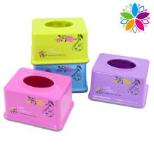 Diseño de flores de moda rectángulo de plástico caja de tejido (zjh028)
