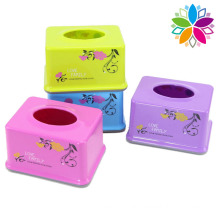 Fashionable Flower Design Plastic Rectangle Tissue Box (ZJH028)
