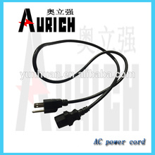 UL 125v Standrad PVC Power Plug câbles avec alimentation cordon fiche 2P + t