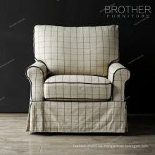 Sofá del sofá del sofá del solo sofá de la tela clásica americana