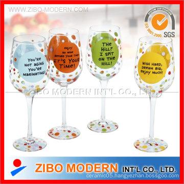 Colored Top Martini Glass
