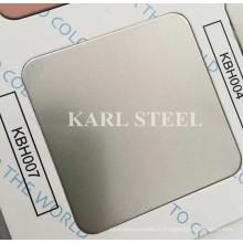 304 Acier inoxydable couleur argent Hairline Kbh007 feuille