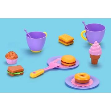 Conjuntos de cozinha de brinquedo fingir brincar de molde de brinquedos de cozinha de plástico