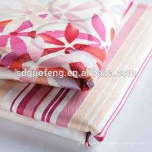 vente en gros 100% coton imprimer draps en tissu de lin en rouleaux pour le textile à la maison