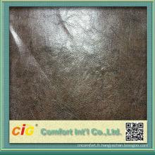 Cuir d'unité centrale métallique de Strong chinois humide PU cuir souple