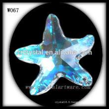 Collier en cristal d'étoile de mer W067