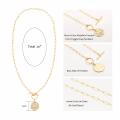 Women Minimalist Jewelry copper clavicle necklace Couple Statement pendant Charm necklace