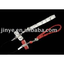 Cordón de cordón de cuero de moda con decoración de lazo de cuero