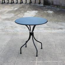 Mesa de centro redonda de hierro de patio