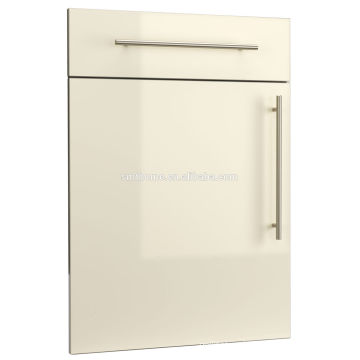 CREAM COLOR HIGH GLOSS PVC SLAB KITCHEN CABINET DOOR