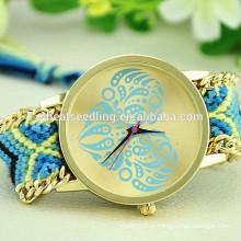Coração pulseira de couro pulseira