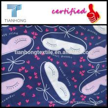 tissu imprimé satin coton doux rêve design des années 60 pour la robe de gril