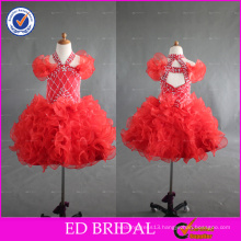 ED Bridal Hot Sale Sleeveless Lovely Beaded Halter Ball Gown Organza Flower Girl Dress For 2-6 Years' baby Girl