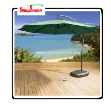 Paraguas de sol de la playa con la tela impermeable para el paraguas del plátano, paraguas grande del patio