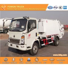 SINOTRUK HOWO 4X2 6m3 rear-loaded compactor truck
