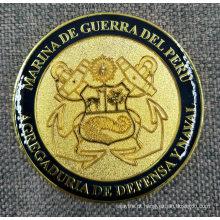 Ouro personalizado jateamento acabamento esmalte moeda epóxi