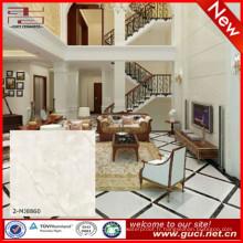 dalles de sol en marbre artificiel alpha avec carreaux de marbre blanc