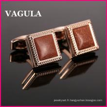 VAGULA qualité Onyx Français boutons de manchette L52503