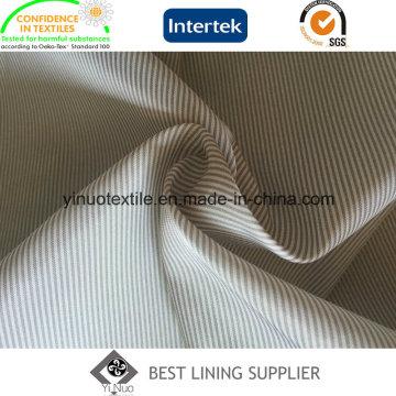 100% Polyester Super Soft Men′s Suit Stripe Lining