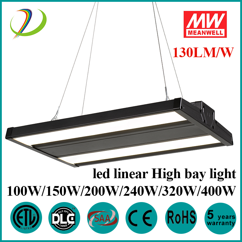 130LM/W DLC Led Linear High Bay Lights