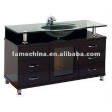 Gabinete de banheiro de madeira sólida de alto brilho de carvalho 2013