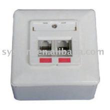 Dual ports socket