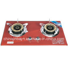 2 Burner Red Tempered Glass Build-in Hob