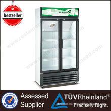 Aprobación CE Pequeño escaparate refrigerado de alta calidad del supermercado