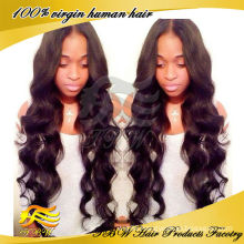 2014 autumn new products body wave virgin brazilian hair wig for sale
