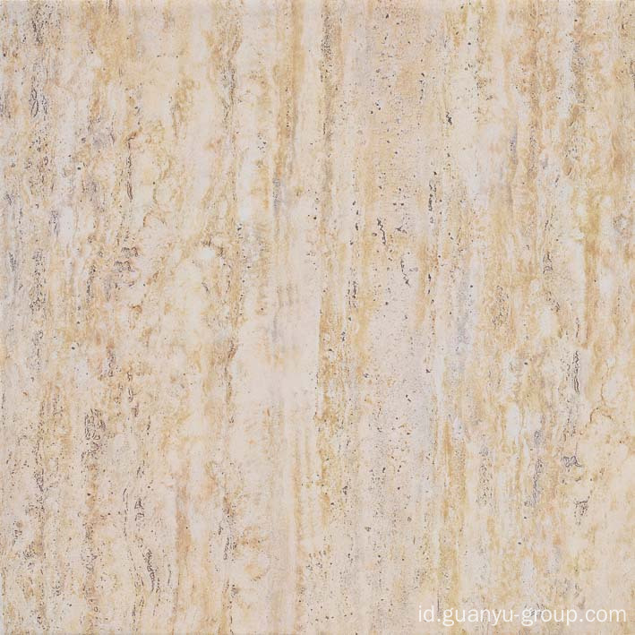 Beige Travertine pedesaan porselen ubin