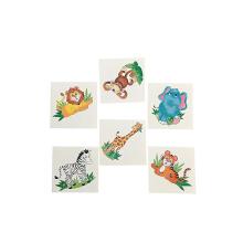 Animais decorativos decorativos bonito dos desenhos animados caçoam o papel da etiqueta