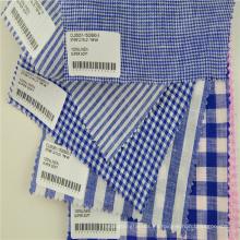 tela de ropa a cuadros con ramio de lino