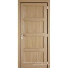 Unvollendete innen Eiche furniert 4 Panel zusammengesetzte Holztür