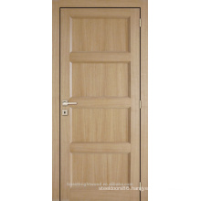 Unfinished interior oak veneered 4 panel composite wooden door
