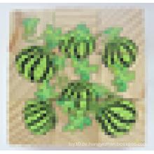 Neun Stücke pro Satz Sechs Seiten Druck Wooden Cube Puzzle Unterstützung OEM