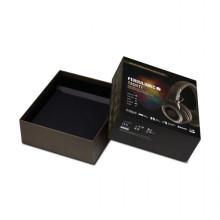 Boîte de papier pour casque avec deux pièces rigides noires personnalisées