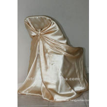 self-tie back chair cover,CT335 satin chair cover,universal chair cover