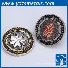 OEM Двойная Плакировка латуни 3D Военная монета