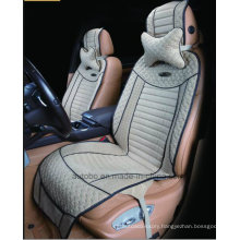 Car Seat Cushion Flat Shape Cushion with Strips Embroidery Leatherette