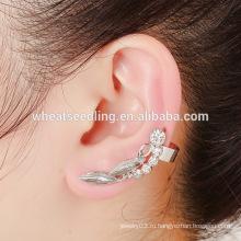 Китай поставщик оптовой большой кристалл обруча моды бриллиантовые серьги стержня