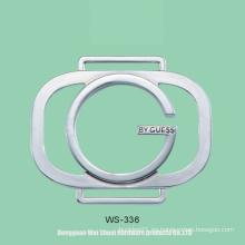 Etiqueta para bolsos, logotipo de aleación de zinc, accesorios para bolsas, prendas de vestir, etc.