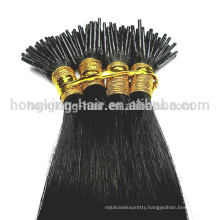 100% Remy human hair extension,Brazilian virgin remy hair,I tip hair extension