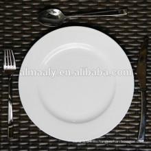 Placa de pizza de cerámica placa de postre de porcelana placa de cena de porcelana